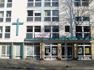 Vorderansicht der Zoar-Kirche